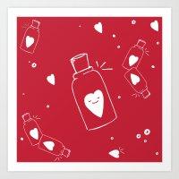 Pitadinha de Amor - vermelho Art Print