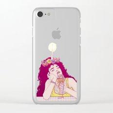 Unicorn Freakshake Lady Clear iPhone Case