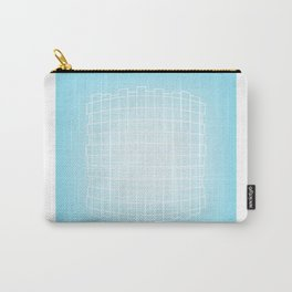 Warped in Blue Carry-All Pouch