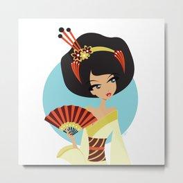 A Geishas Autumn Metal Print
