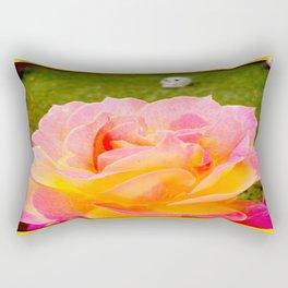 Flower and Skull Rectangular Pillow