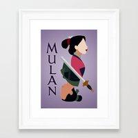 mulan Framed Art Prints featuring Mulan by hayley phoenix