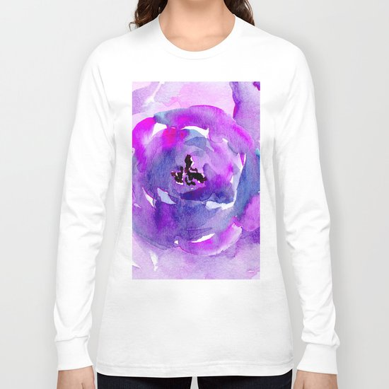 Purple pink flower Long Sleeve T-shirt
