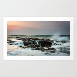 Thor's Well Sunset Art Print