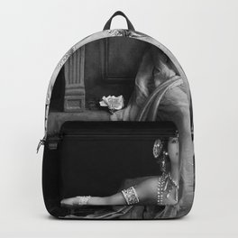 Mata Hari, Famous French Dancer and Femme fatale black and white photograph / black and white photography Backpack