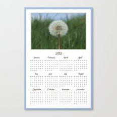Dandelion 2013 Calendar Canvas Print