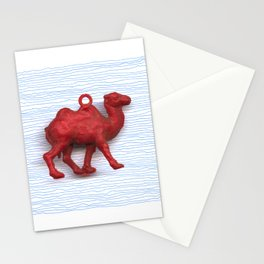 Genetically challenged camel trying to cross the blue mirage Stationery Cards