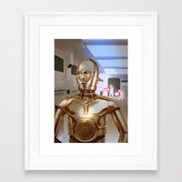 c3po Framed Art Prints featuring C3PO by Santiago Sarquis