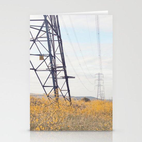 yellow lines... Stationery Cards