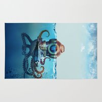 finding nemo Area & Throw Rugs featuring Nemo by Tony Vazquez