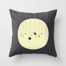 Solar System (you are here) Strings Throw Pillow
