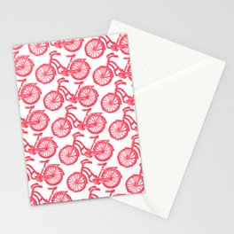 roule ma poule - wanna ride my bicycle red Stationery Cards