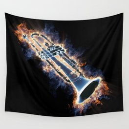 Fire trumpet in concert Wall Tapestry