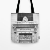 broadway Tote Bags featuring 100 Broadway by Jon Cain