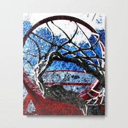 Basketball artwork swoosh vs 8 Metal Print