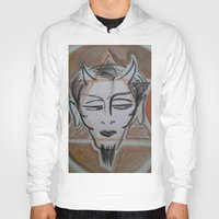 satan Hoodies featuring HA SATAN by Kathead Tarot/David Rivera
