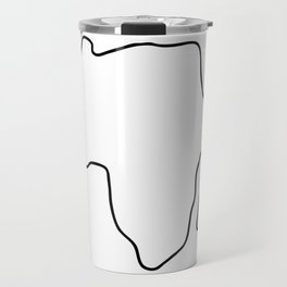Africa African continent map Travel Mug