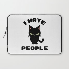 I Hate People Funny Cat Laptop Sleeve