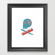 Graphic Designer Skull Framed Art Print