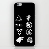 fandom iPhone & iPod Skins featuring Welcome To My Fandom by Lunil
