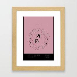 2015 Lunar Zodiac Calendar Framed Art Print