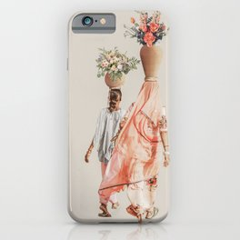Mother and Daughter - Digital Collage iPhone Case