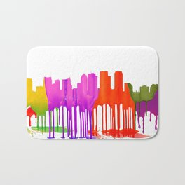 Tampa, Florida Skyline - Puddles Bath Mat
