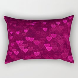 Valentine's Day | Romantic Crimson Galaxy | Universe of pink purple hearts Rectangular Pillow