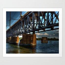 Bridge HDR Art Print