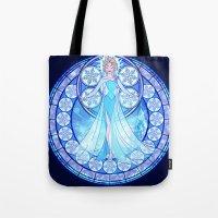 elsa Tote Bags featuring Elsa by NicoleGrahamART