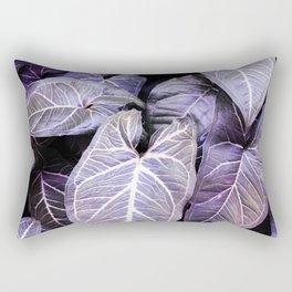 Jungle leaf - amethyst Rectangular Pillow