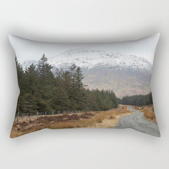 The road I took Rectangular Pillow