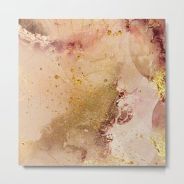 Abstract Watercolor Paint Background Metal Print