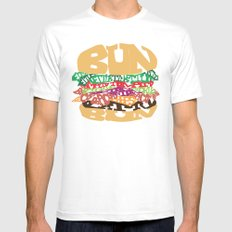 Word Drawing Burger MEDIUM Mens Fitted Tee White