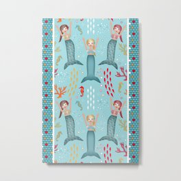 Synchronized Swimming Metal Print
