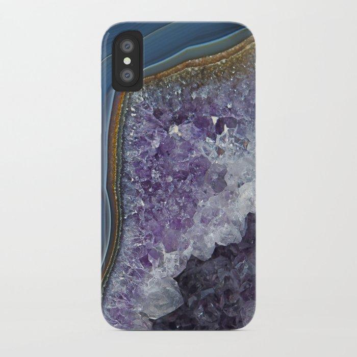 Amethyst Geode Agate iPhone Case by carolhu