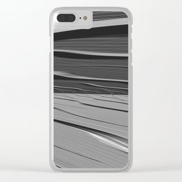 dual realities: white Wasteland Clear iPhone Case