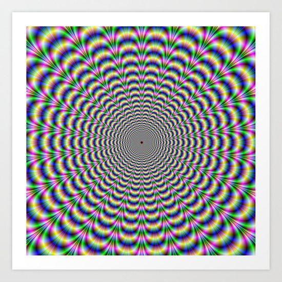 Psychedelic Beat Art Print