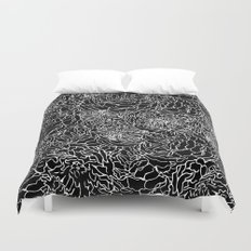 SPRING IN WHITE AND BLACK Duvet Cover