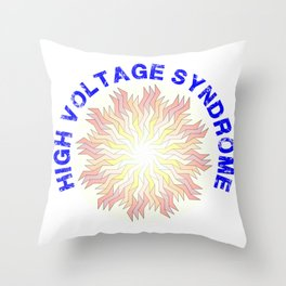 High Voltage Syndrome Throw Pillow