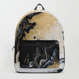 Black Gold: Acrylic Pour Painting Backpack