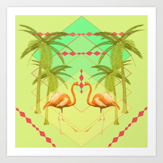 go flamingo, go ! Art Print