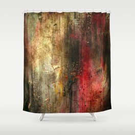 Fall Abstract Acrylic Textured Painting Shower Curtain
