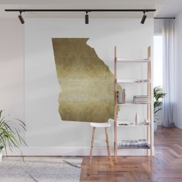 Georgia Gold Foil Map Wall Mural