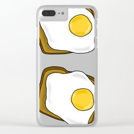 Sunny Side Up Toasts Clear iPhone Case
