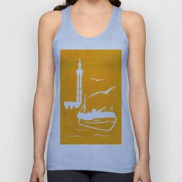 Home in Yellow Unisex Tank Top
