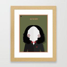 Billy the Puppet Framed Art Print