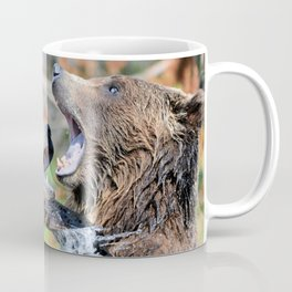 Sparring Grizzly Bears Coffee Mug