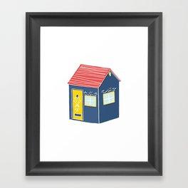 Little Scandinavian House Framed Art Print