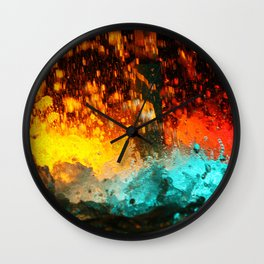 WATER FOUNTAIN LIHT REFLECTION Wall Clock